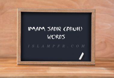 Imam Sadiq (pbuh) words